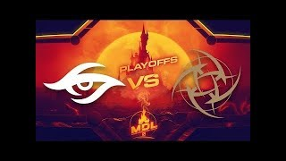 MDL Disneyland® Paris Major | EU Qualifier | Playoff | Secret vs NiP - Game 1