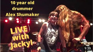 10 year old Alex Shumaker playing I stand Alone with Jackyl