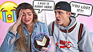 Hiding My Fiances Engagement Ring Prank *SHE CRIED*