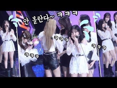 [ENG] 은하 애드립에 빵터진 여자친구 super cute EunHa,  GFRIEND reaction : 댄스퍼포먼스상 Performance Prize : fancam
