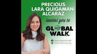 Precious Lara Quigaman-Alcaraz for ANCOP Global Walk 2019