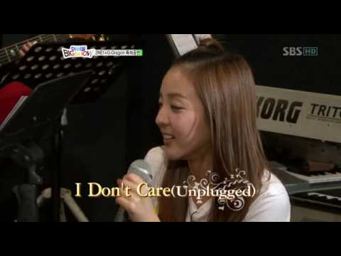 GDragon & 2NE1 I Don't Care Unplugged Ver