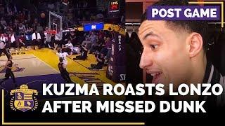 Kyle Kuzma Roasts Lonzo Ball After Missed Dunk
