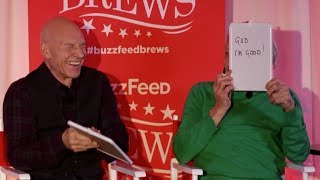 Sir Patrick Stewart and Sir Ian McKellen Play The Newlywed Game