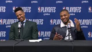 CJ McCollum & Damian Lillard Postgame Press Conference | Trail Blazers vs Nuggets Game 7