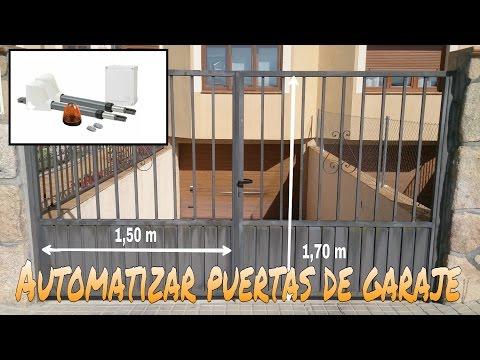 Puerta automatica casera - Puertas de garaje batientes ...