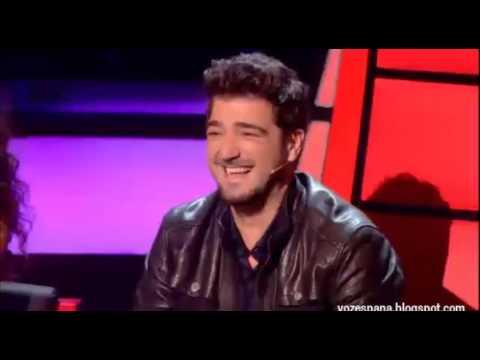 """Fantástica actuación del cubano Rai en La Voz España - """"A puro dolor"""""""