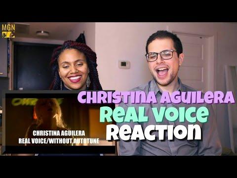 Christina Aguilera - Real Voice Reaction