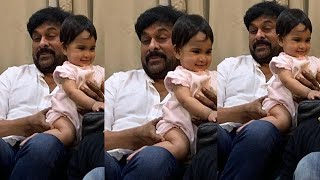 Chiranjeevi fun time with granddaughter Navishka..