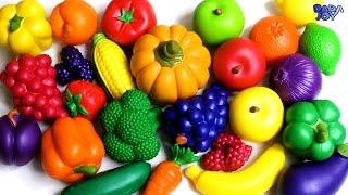 Los Colores De Frutas y Verduras|Aprender Los Nombres De Las Frutas y Verduras Con El Juguete
