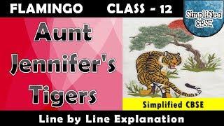 Aunt Jennifer's Tigers | Class 12 - Flamingo | Line by Line Explanation