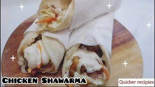 Chicken Shawarma // Homemade Shawarma // Quicker Recipies // Shawarma // Easy Shawarma Recipes //