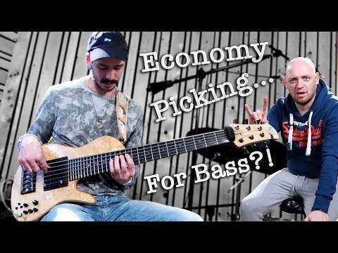 How to play BLAZING FAST BASS FILLS (economy picking)