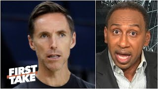 Stephen A. explores the optics of the Nets hiring Steve Nash: 'It doesn't seem fair!' | First Take