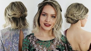 5 Quick Holiday Hairstyles for Short Hair! - KayleyMelissa