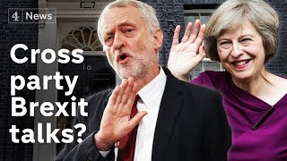 May holds cross-party Brexit talks - but Corbyn says no