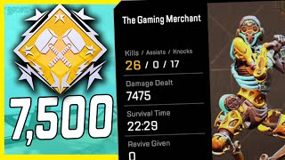 26 KILLS 7.5K DAMAGE SOLO With The Most Popular Legend On YouTube - Apex Legends Gameplay