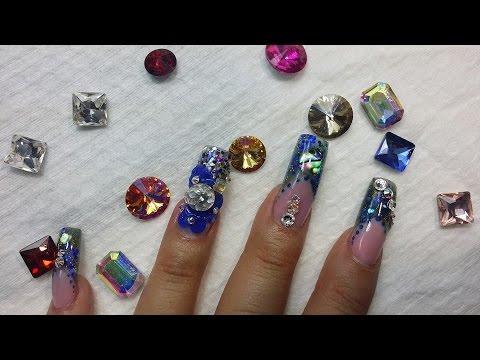 Unas Acrilicas Nail Factory Laccover Y Rosa Con Estilografo Y Tinta