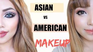Asian Vs American Makeup !!!