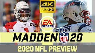 Arizona Cardinals @ New England Patriots - NFL 2020 Week 12 - Madden Simulation - 4K