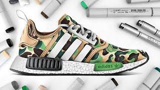 OFF WHITE x ADIDAS NMD NAST Boost Sport Running Shoes DA8858