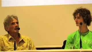 Ondra e Manolo discutono di arrampicata. Trento Film Festival 2013.