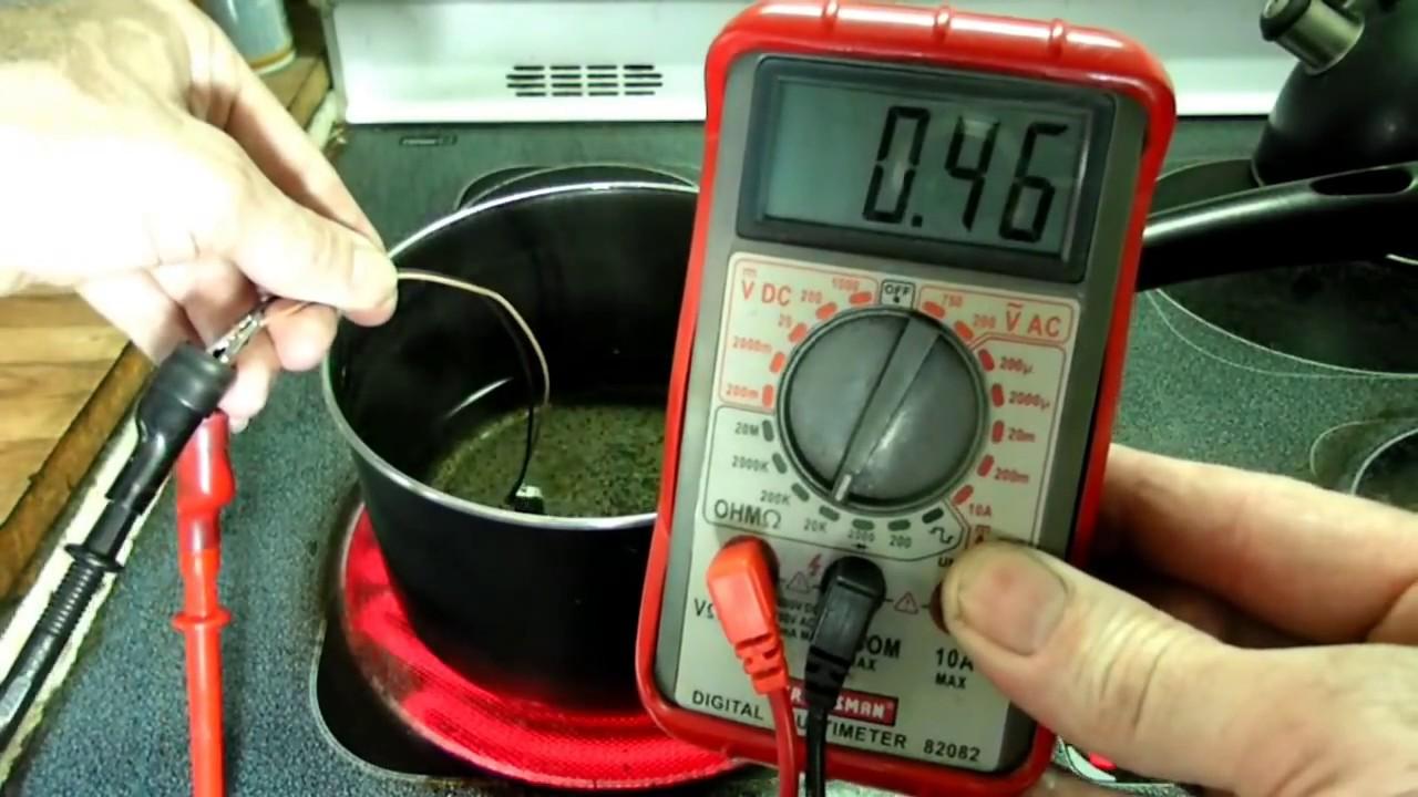 Engine Coolant Temperature Sensor Resistance Checking ...