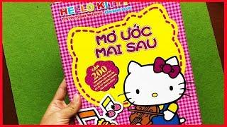 Đồ chơi DÁN HÌNH MÈO HELLO KITTY XINH & kể chuyện Mơ Ước của Hello Kitty Toys for Kids (Chim Xinh)