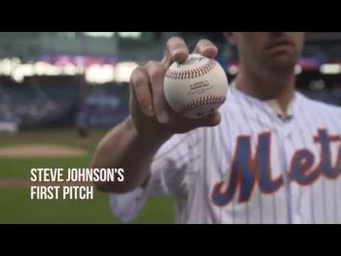 Johnson Throws First Pitch 2016