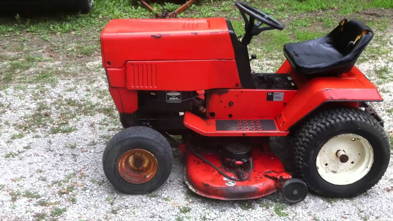 Mtd Vintage Lawn Tractor 18 Hp Twin Briggs Youtube