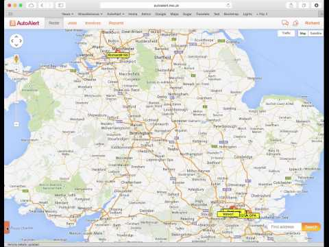 AutoAlert Radar Screen Options (web)