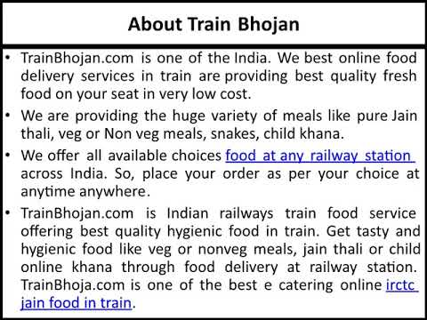 Best Online Food E Catering Services | Food Booking |Food Delivery in Train