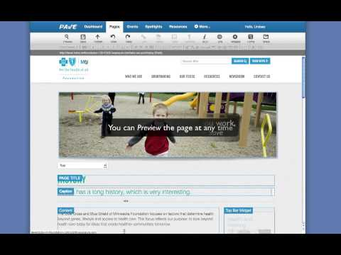 PAVE CMS Training: General Content Page Management