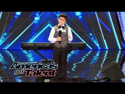 Adrian Romoff: 9-Year-Old Piano Player Wows Judges - America's Got Talent 2014 (Highlight)