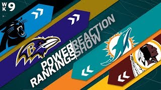 Power Rankings Week 9 Reaction Show: Texans Offense vs. Jaguars Defense? | NFL Network