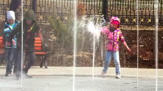 27 апреля в парке на 17 км запустили фонтан