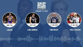 Lakers, Luka Doncic, Tom Brady, Philip Rivers (2.13.20) | UNDISPUTED Audio Podcast