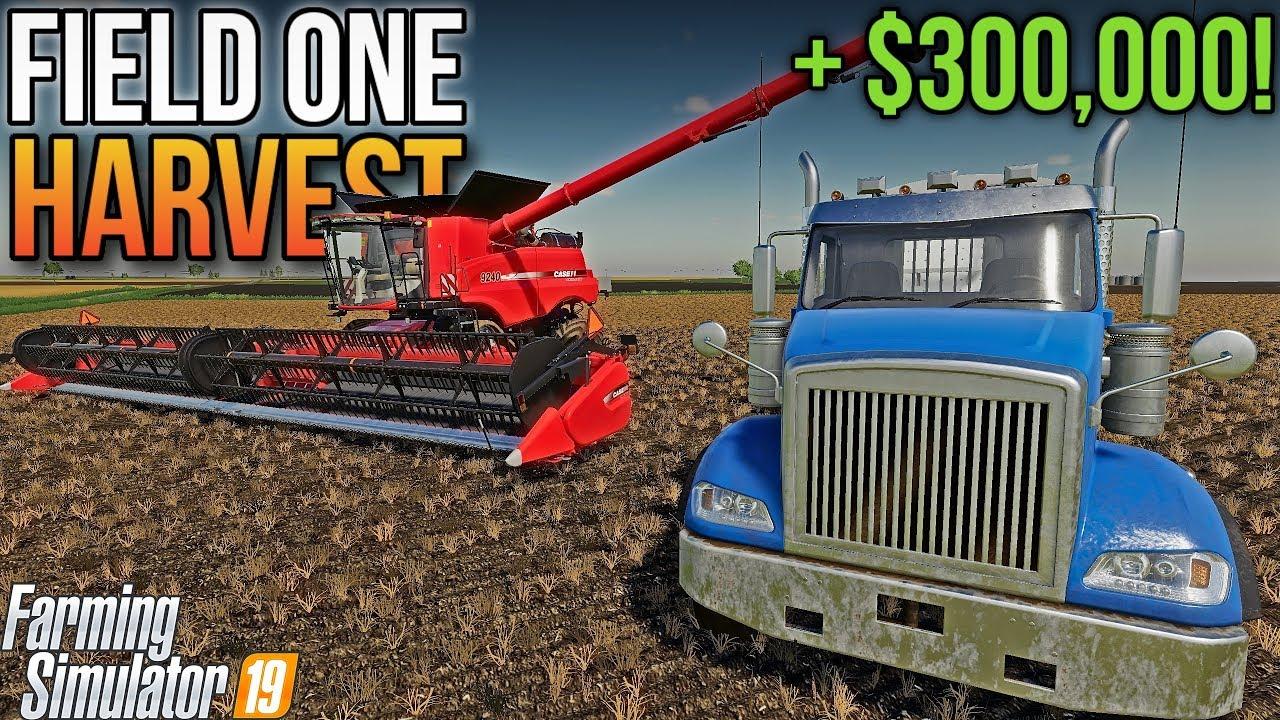HARVESTING FIELD ONE! (Full Harvest)   Welker Farms FS19