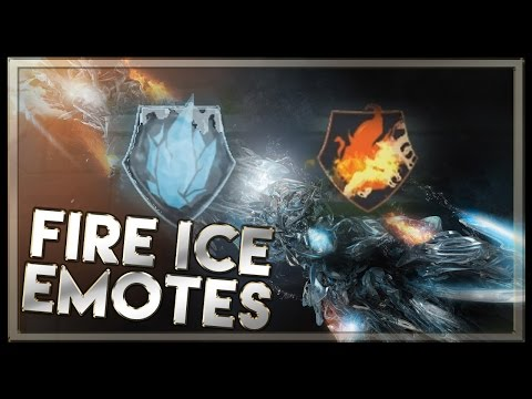 Allstar 2015 fire and ice emotes on pbe,they are enabled when you have  summoner icon equipped of allstar 2015 (ice icon or fire).