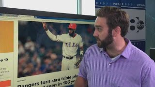 Breaking down the Rangers' ultra-rare triple play