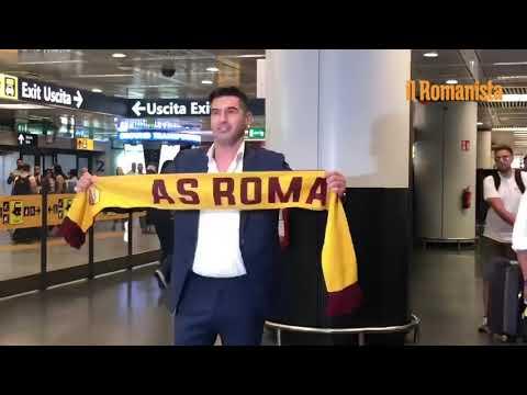 VIDEO - L'arrivo di Paulo Fonseca all'aeroporto di Fiumicino