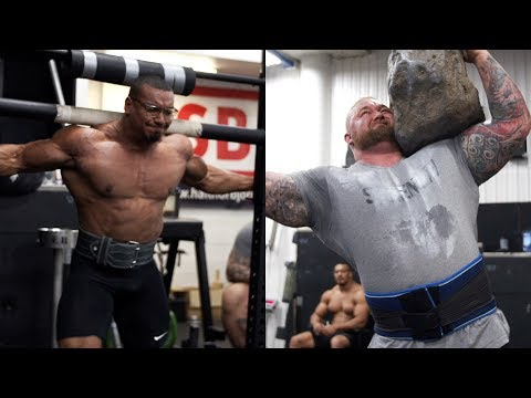 LARRYWHEELS STONES, YOKE, AND SQUATS WITH THE WORLDS STRONGEST MAN