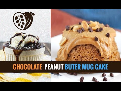 Chocolate Peanut Butter Mug Cake-Recipe - Chocolak.com