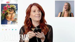 Megan Mullally Hijacks A Stranger's Tinder   Vanity Fair