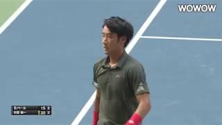 杉田祐一 シングルス1R/左右の攻めで攻略!粘るペールを押し切る