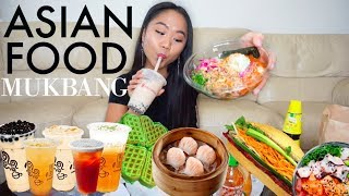 ASIAN FOOD MUKBANG! Watch Me Eat | Dumplings, Boba & MORE | THERESATRENDS