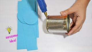 Best reuse idea with tin can|how to recycle tin can|how to make tin can organizer