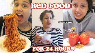 i only ate red food for 24 hours   clickfortaz