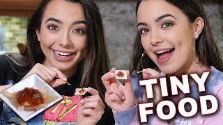 Tiny Food Challenge: Spaghetti - Merrell Twins