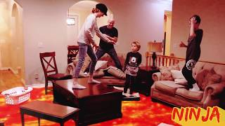 The Floor Is Lava LAVA MONSTER! Ninja Style! / That YouTub3 Family   The Adventurers